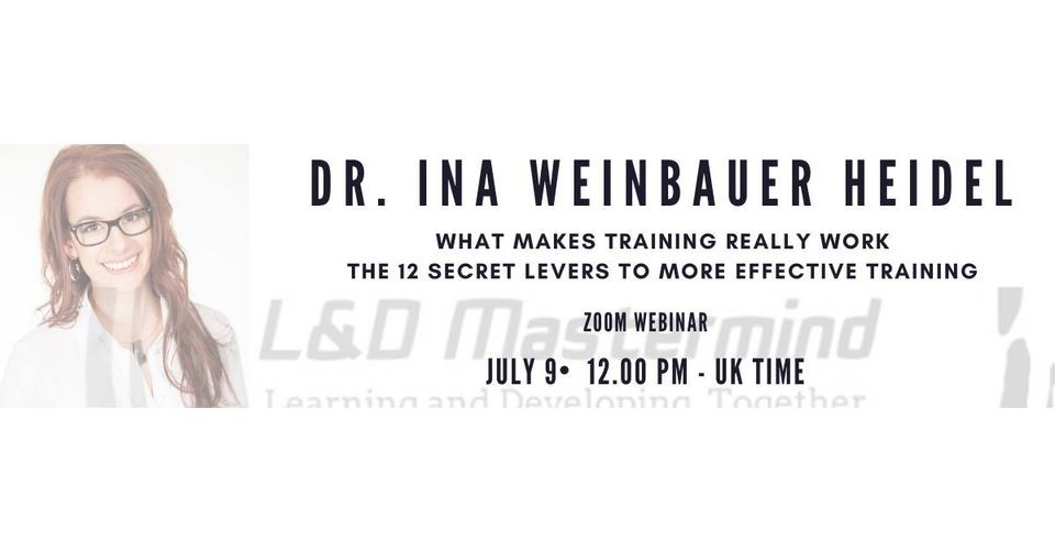 L&D Mastermind - Eevent - Ina Weinbauer 9th July 2020