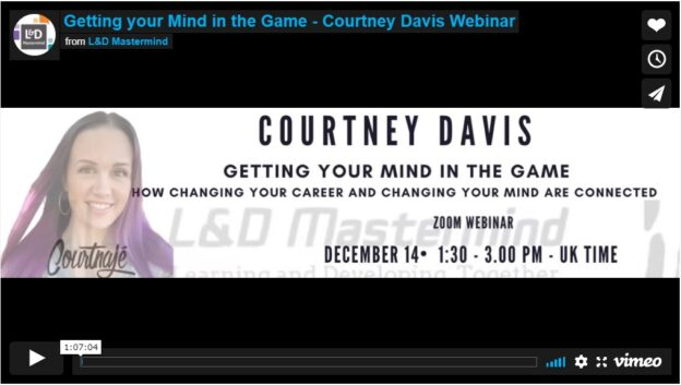 Courtney Davis.Getting your mind in the game