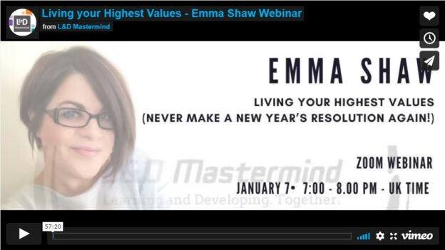 Emma Shaw.Living our highest values