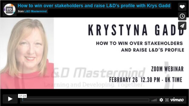 Krystyna Gadd.How to win over stakeholders