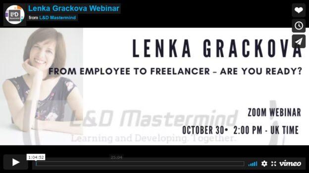 Lenka Grackova.From employee to freelancer