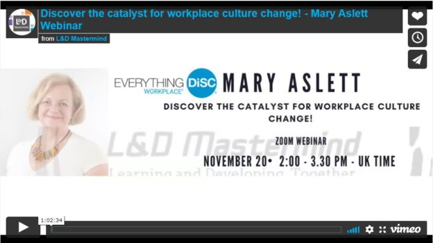 Mary Aslett.Discover the catalyst for workplace culture chang