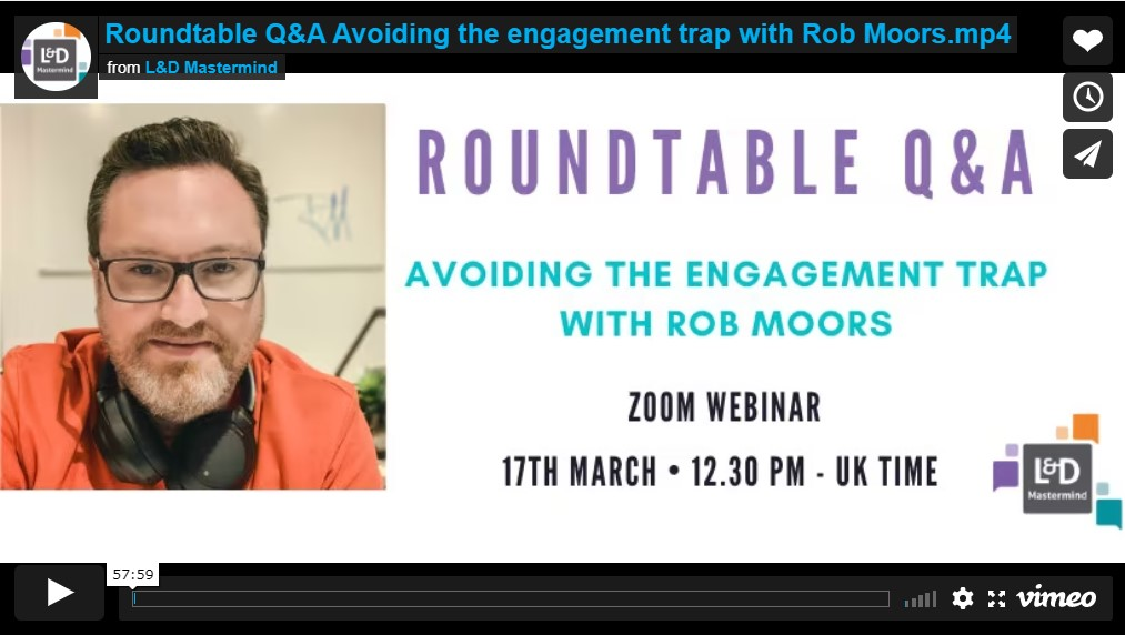Rob Moors.Avoiding the engagement trap