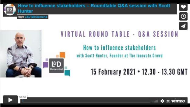 Scott Hunter.How to influence stakeholders