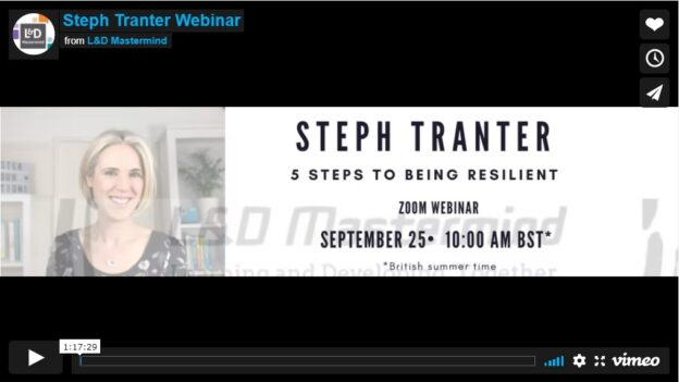 Steph Tranter.5 Steps to being resilient