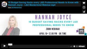 Hannah Joyce.10 budget saving hacks for L&D