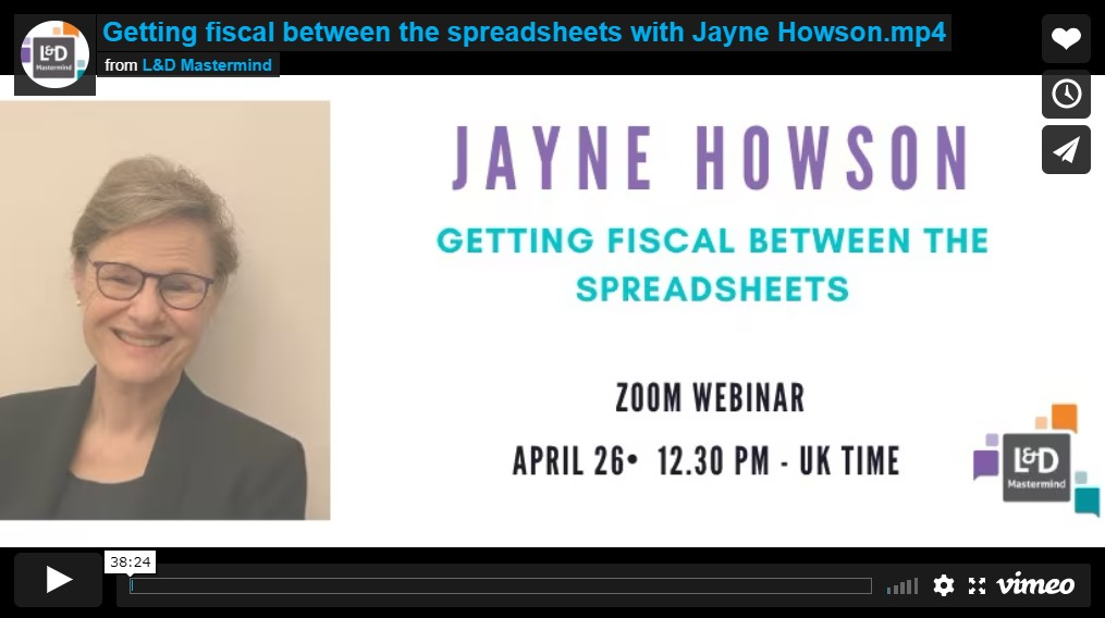 Jayne Howson.Getting fiscal between the spreadsheets