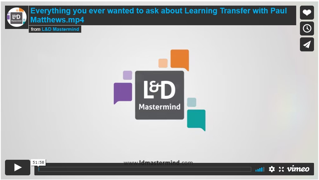 Paul Matthews.Learning Transfer Q&A
